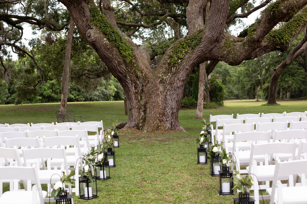 Ceremony Location at the Ribault Club Jacksonville Wedding