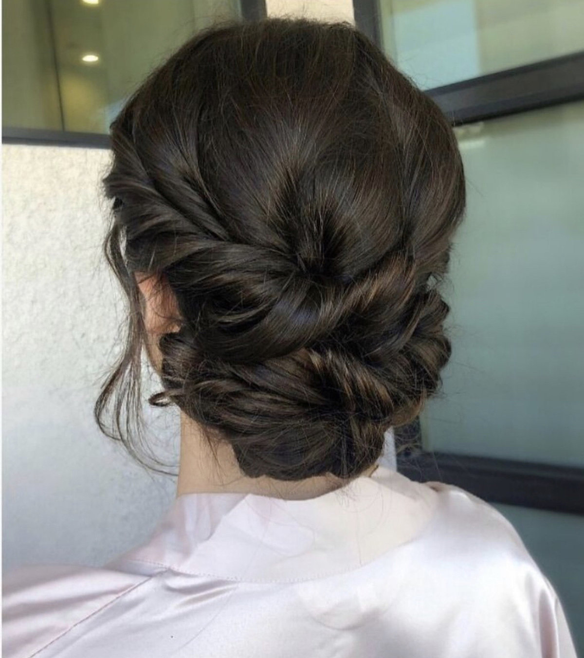 Twisted Bun Bridal Hairstyle