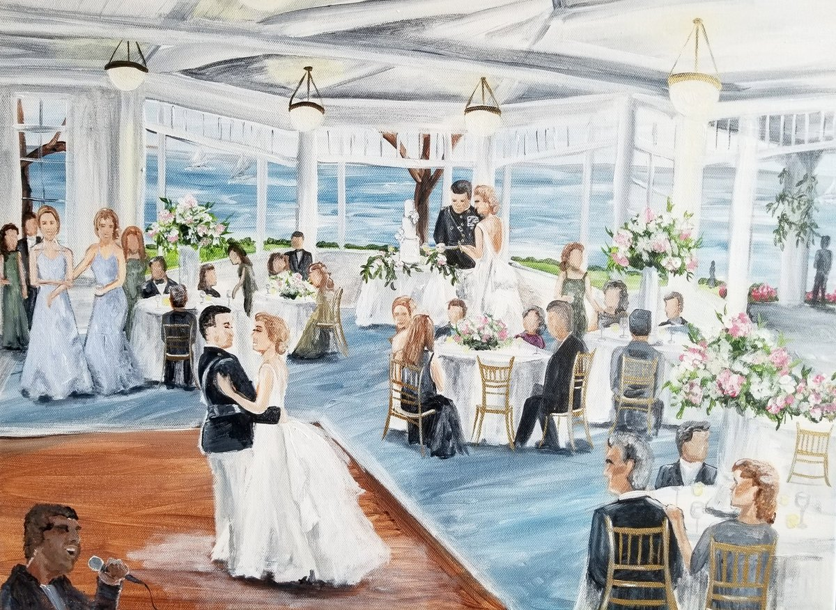 first dance live wedding painting Gibson Island Yacht Club Annapolis Maryland