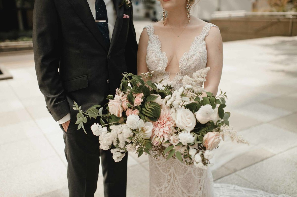 Mallory and Patrick had a luxury wedding designed by Flora Nova Design in Seattle