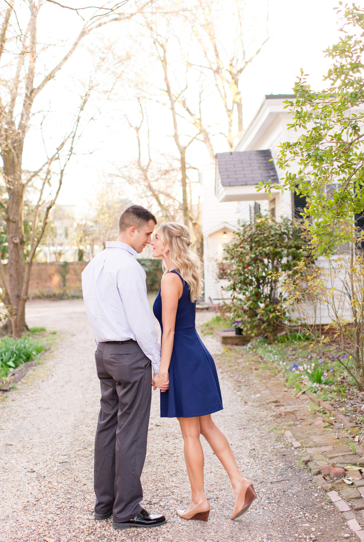 Downtown Fredericksburg engagement photography by Marie Hamilton Photography