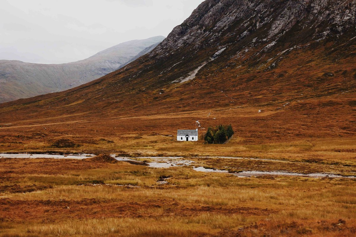 photo of tiny house in the middle of nowhere
