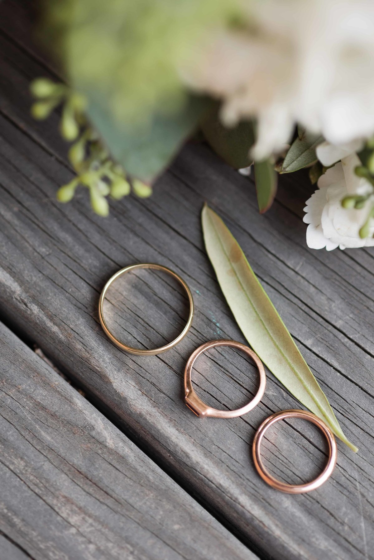 Brides and grooms wedding rings