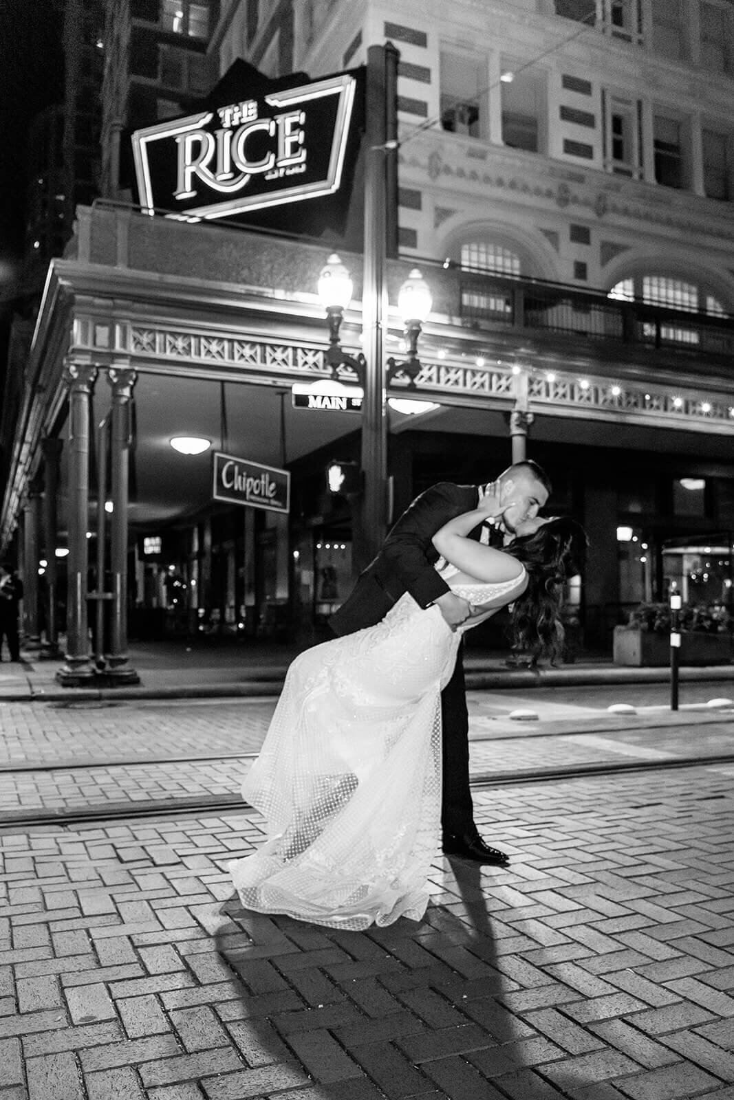 Houston Downtown wedding at the Crystal  Ballroom