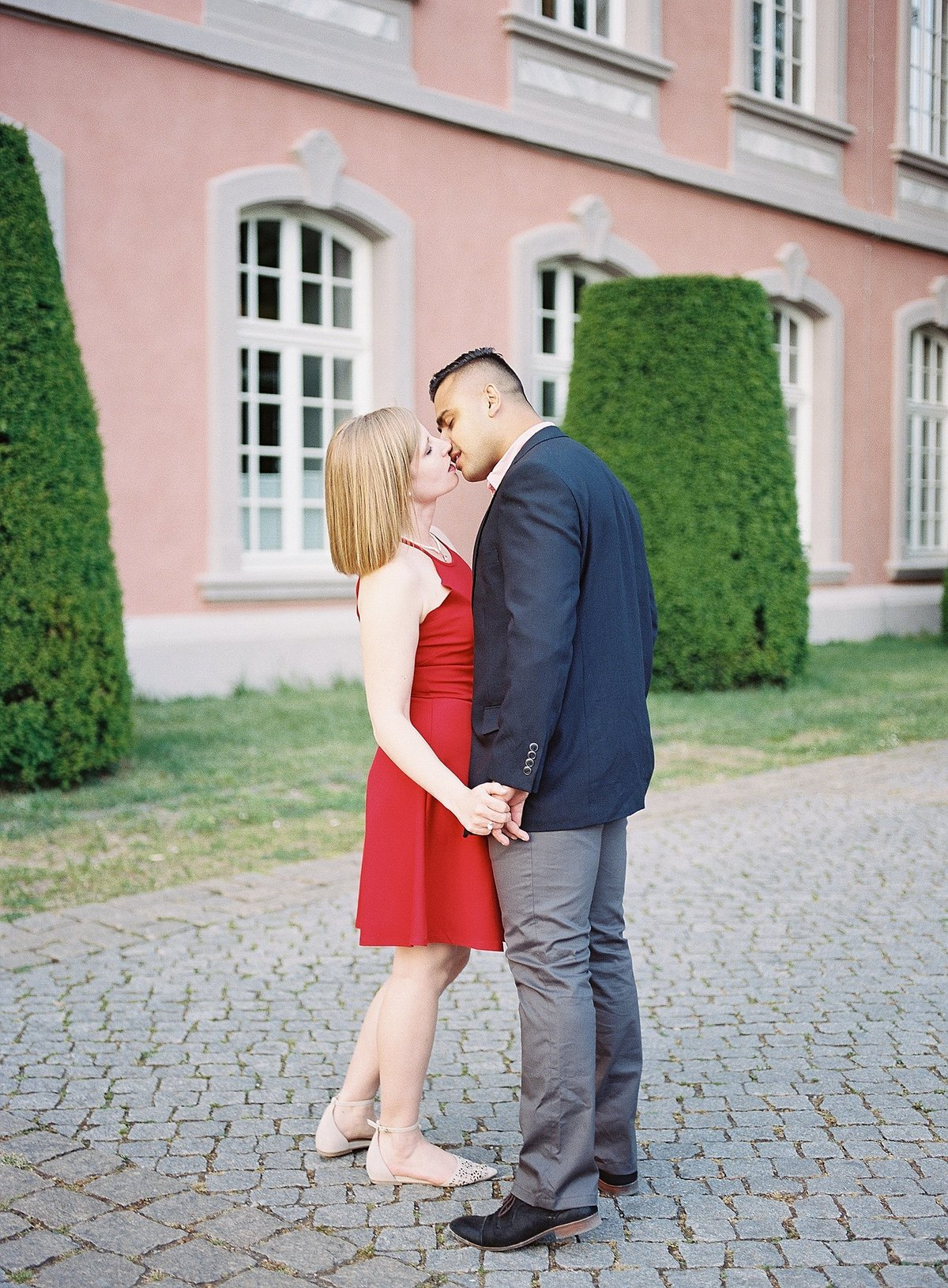 Romantic European Palace Anniversary Session photographed by France destination wedding photographer Alicia Yarrish Photography on film