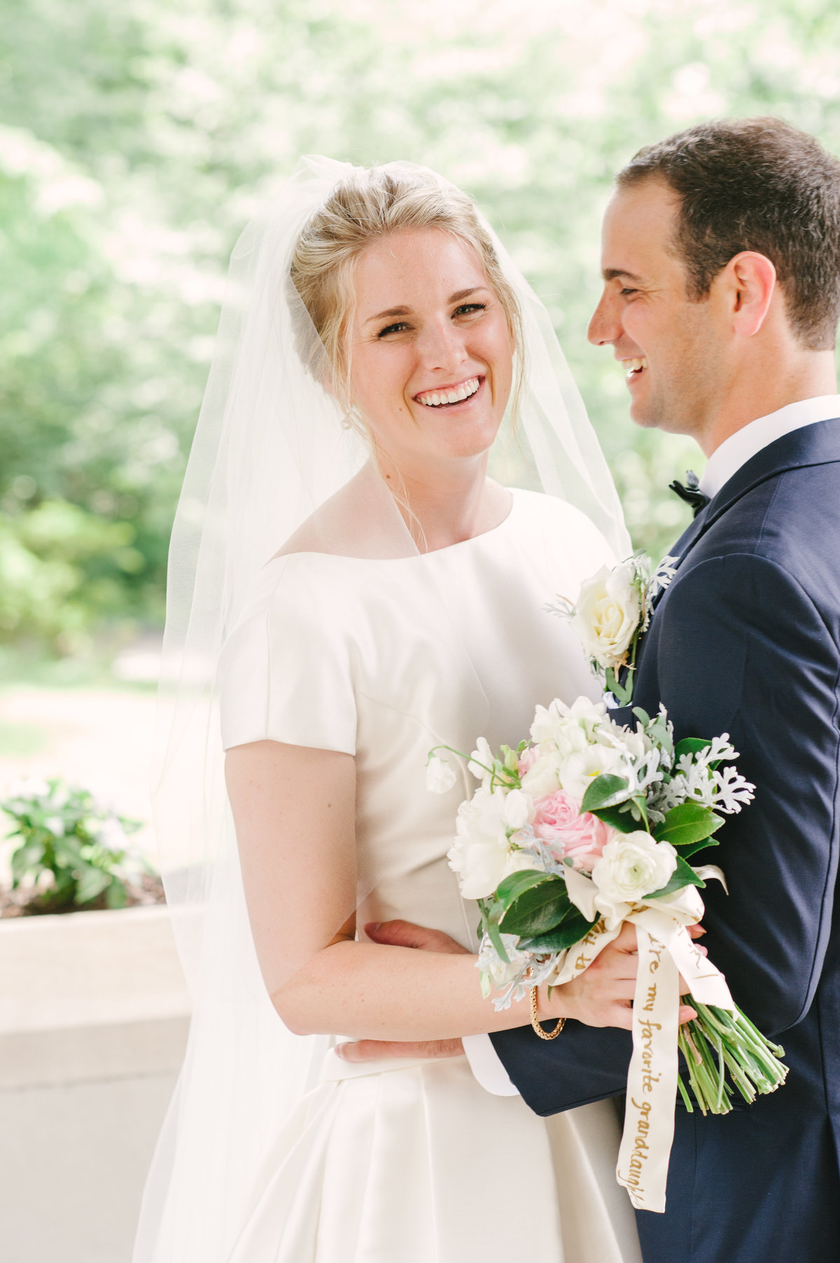 Joyful Wedding Portrait at Callanwolde Fine Arts Center