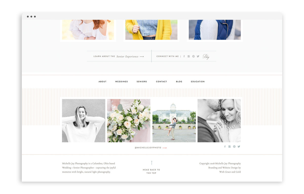 Michelle Joy Photography - Custom Logo Design, Stationery Design, Showit Web Design for Photographer - With Grace and Gold - 3
