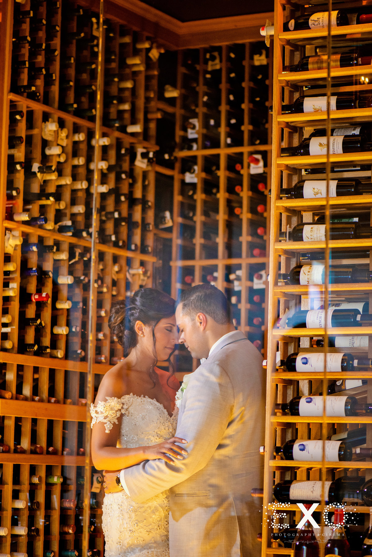 Harbor Club at Prime wedding photos at the wine cellar