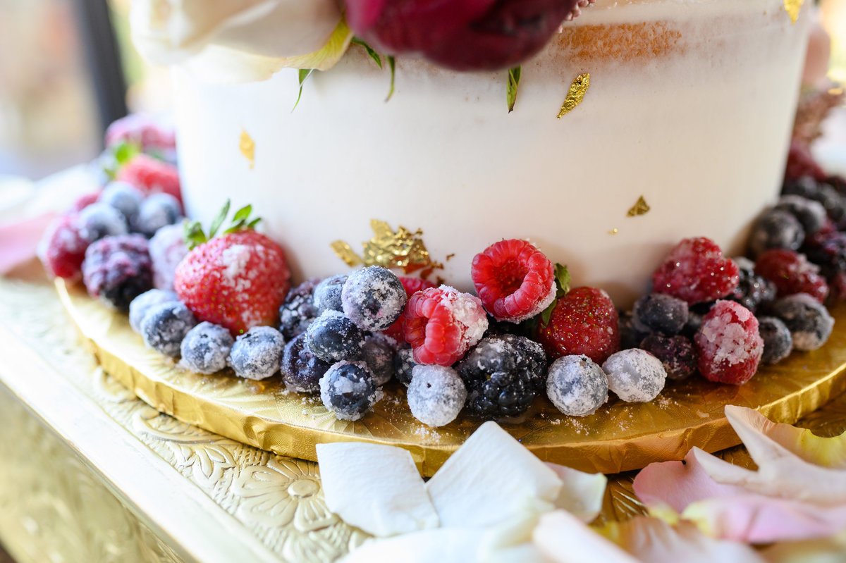 fruit on wedding cake photo
