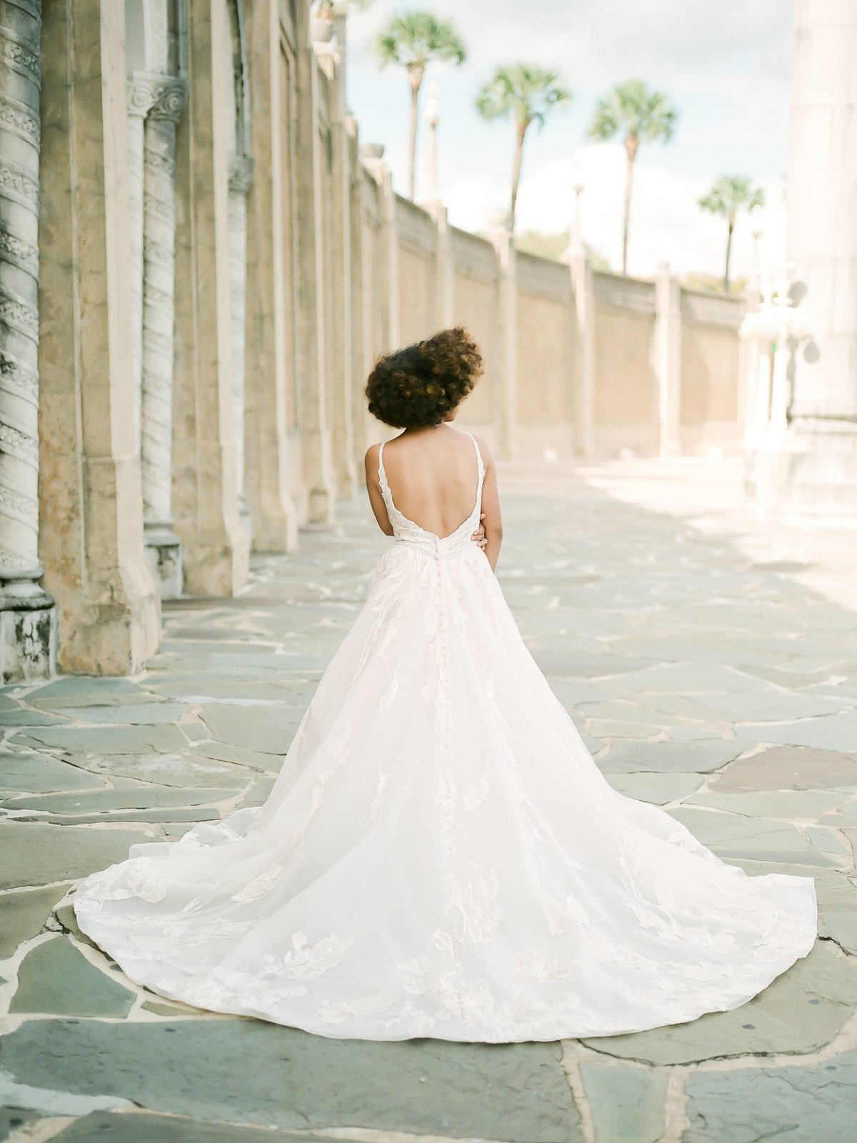 Back of the dress portrait