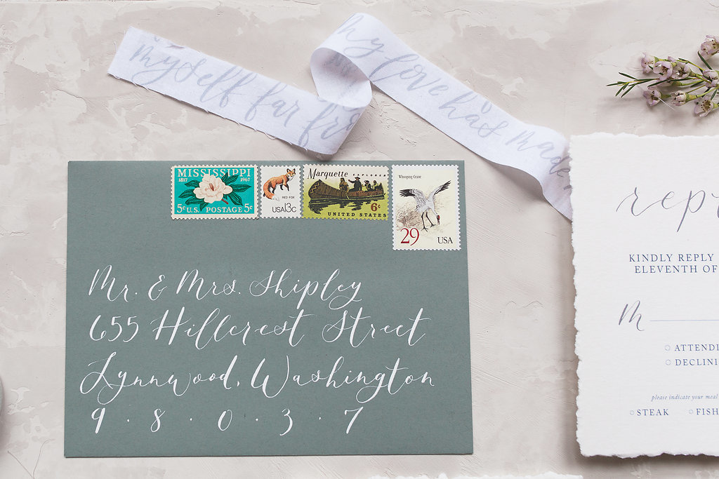 wedding envelope addressing calligraphy