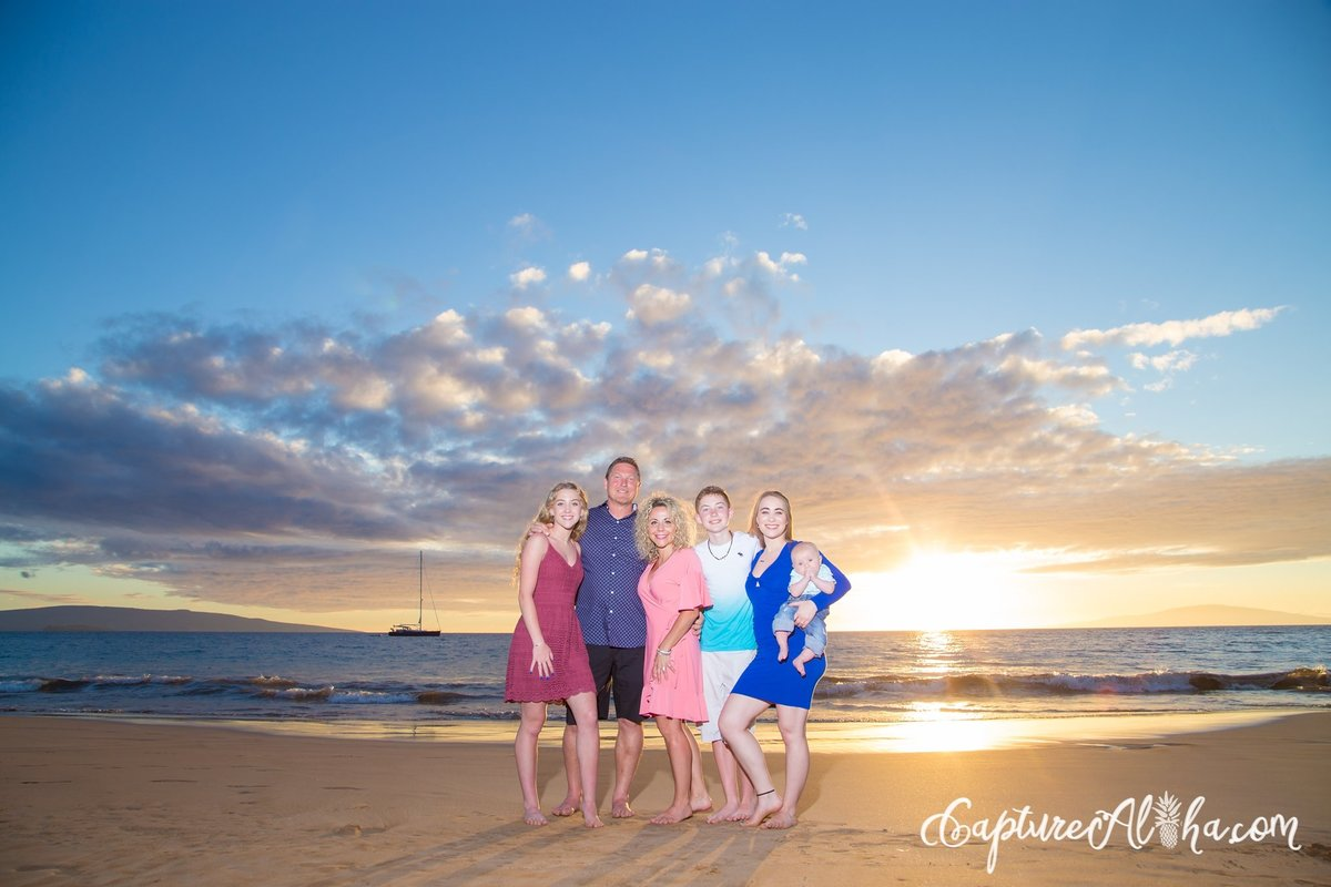 Maui Family Photography at Wailea Beach at Sunset