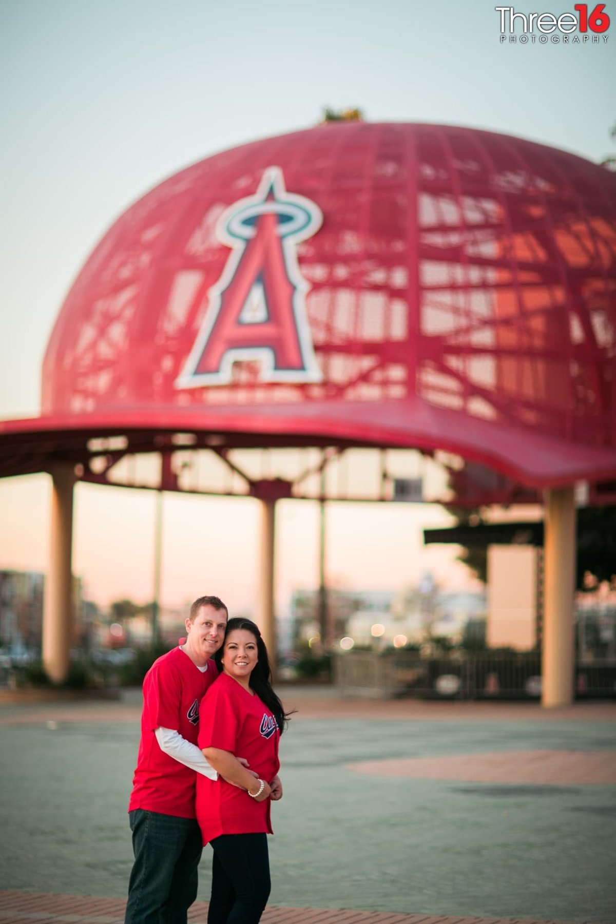 Angel Stadium Engagement  Orange County Wedding
