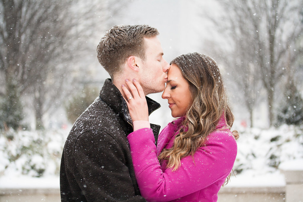 Millennium Park Chicago Illinois Winter Engagement Photographer Taylor Ingles 27