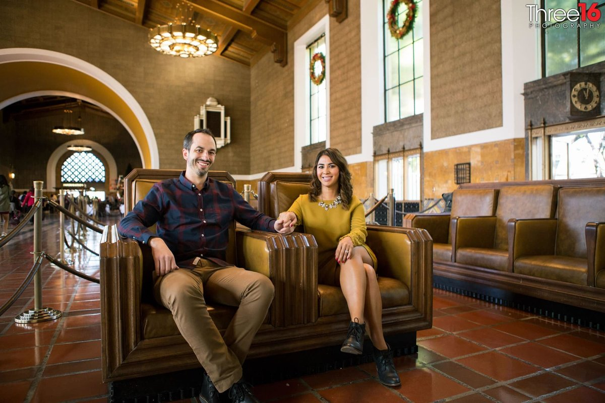 Los Angeles Union Station Engagement Photos LA County Weddings Professional Photographer Urban Unique