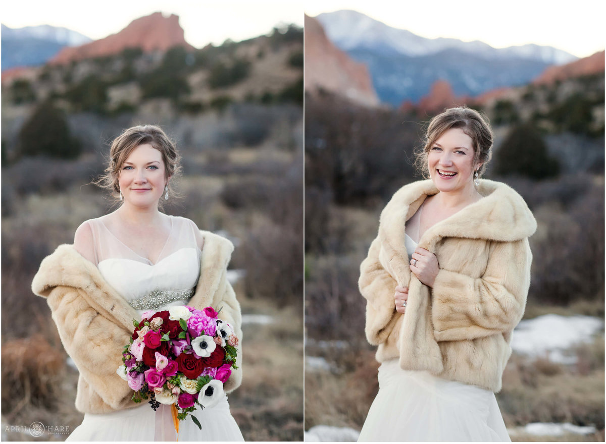 Colorado Winter Wedding Photography at Garden of the Gods