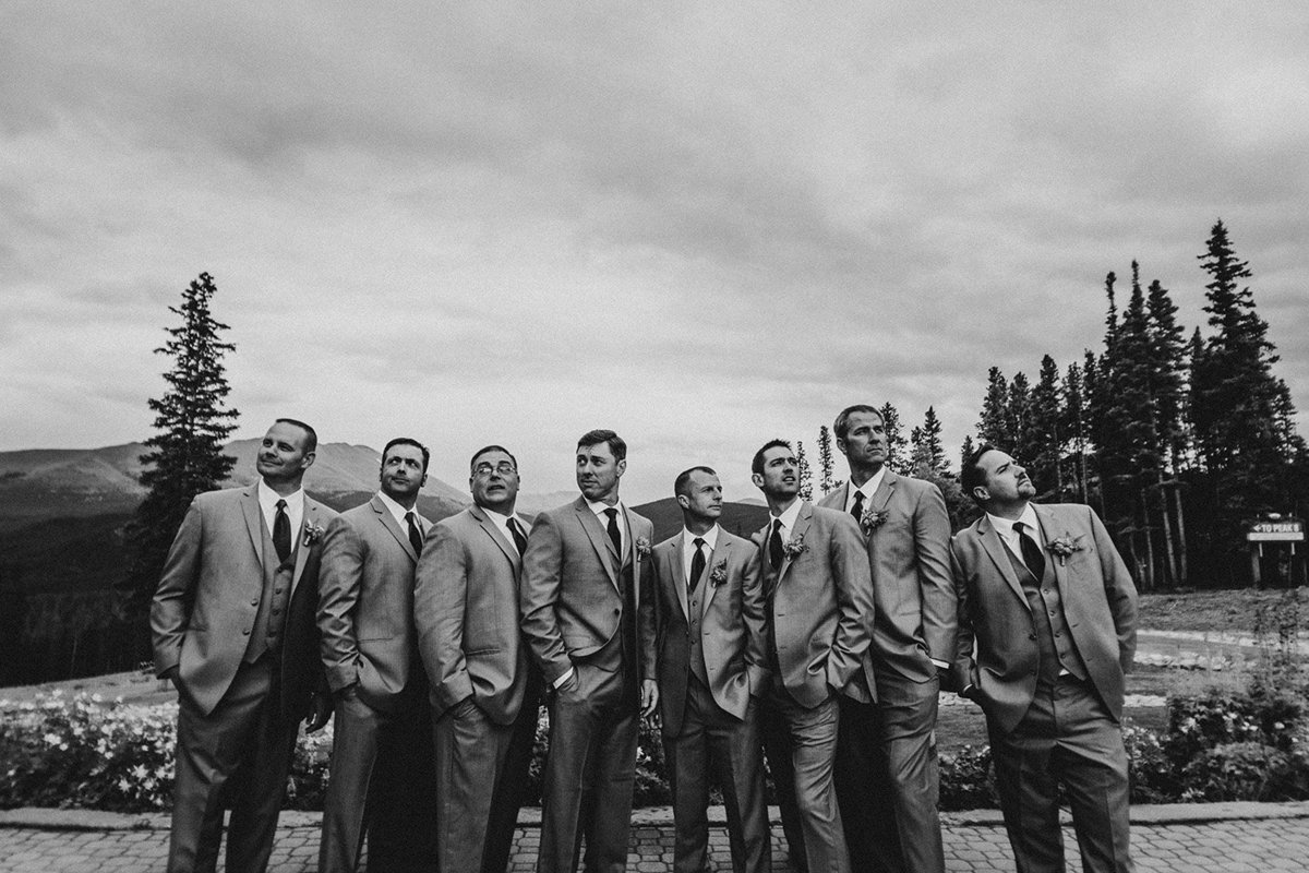 groomsmen in Breckenridge Colorado