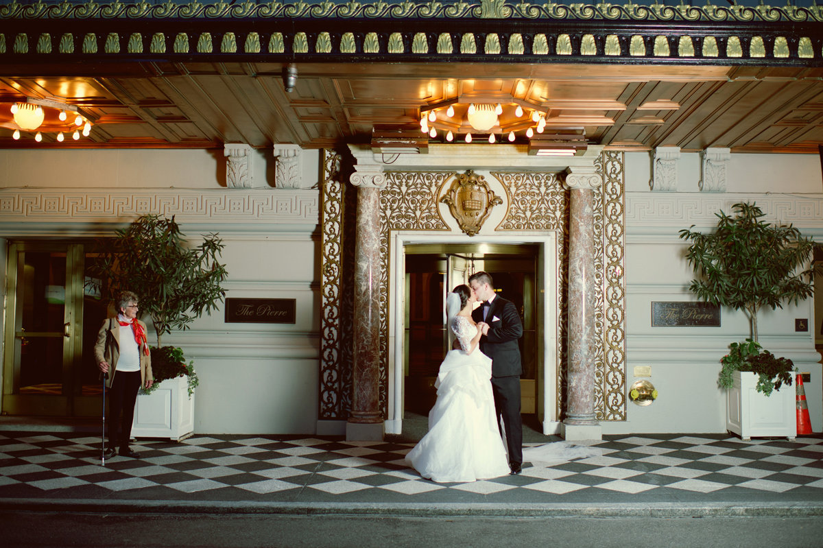 pierre hotel nyc new york city wedding bride and groom fine art photography