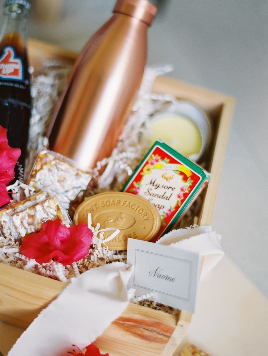 Indian Wedding Welcome Bag Calcutta Products Bonnie Sen Photography