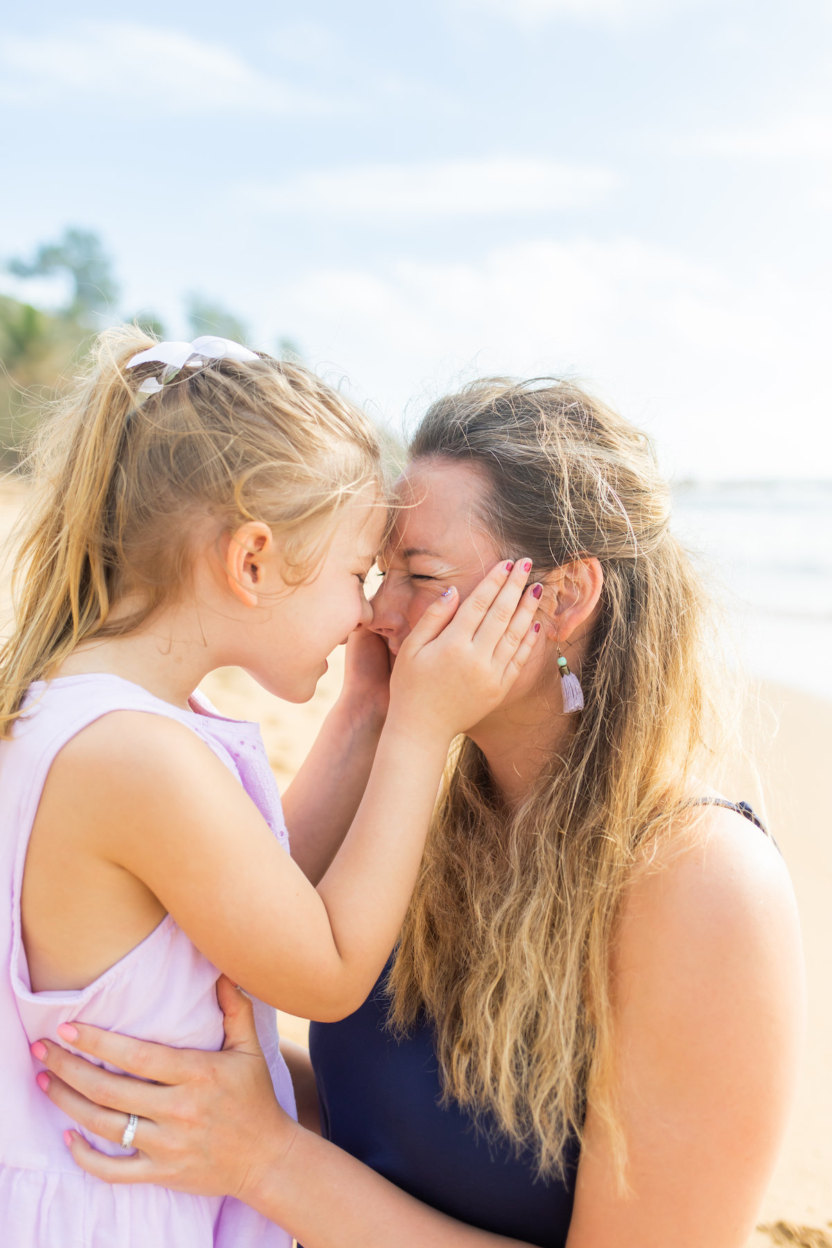 mother and daughter Kauai Family Portraits