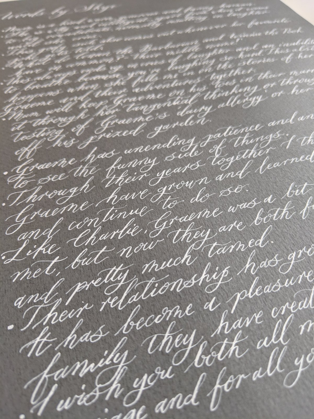 Custom Wedding Vows | Jenni Liandu Calligraphy