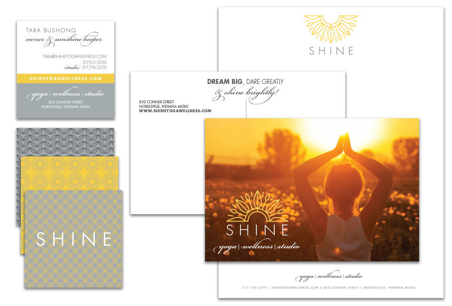 Shine Collateral Overview designed by KB Design
