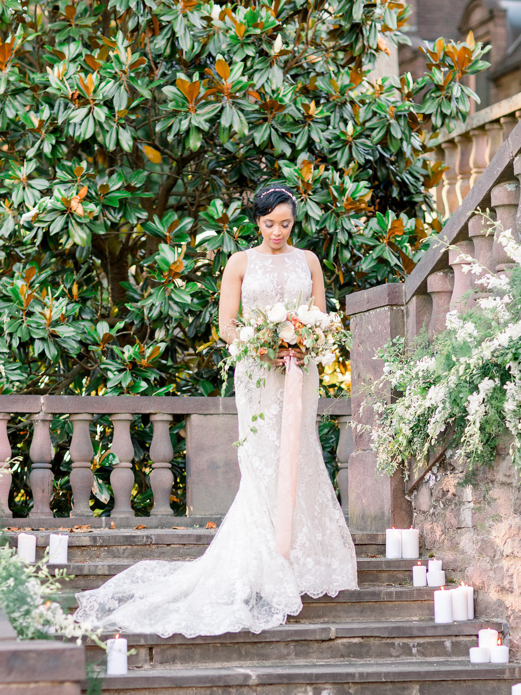Summer Wedding Tyler Gardens Philadelphia bride