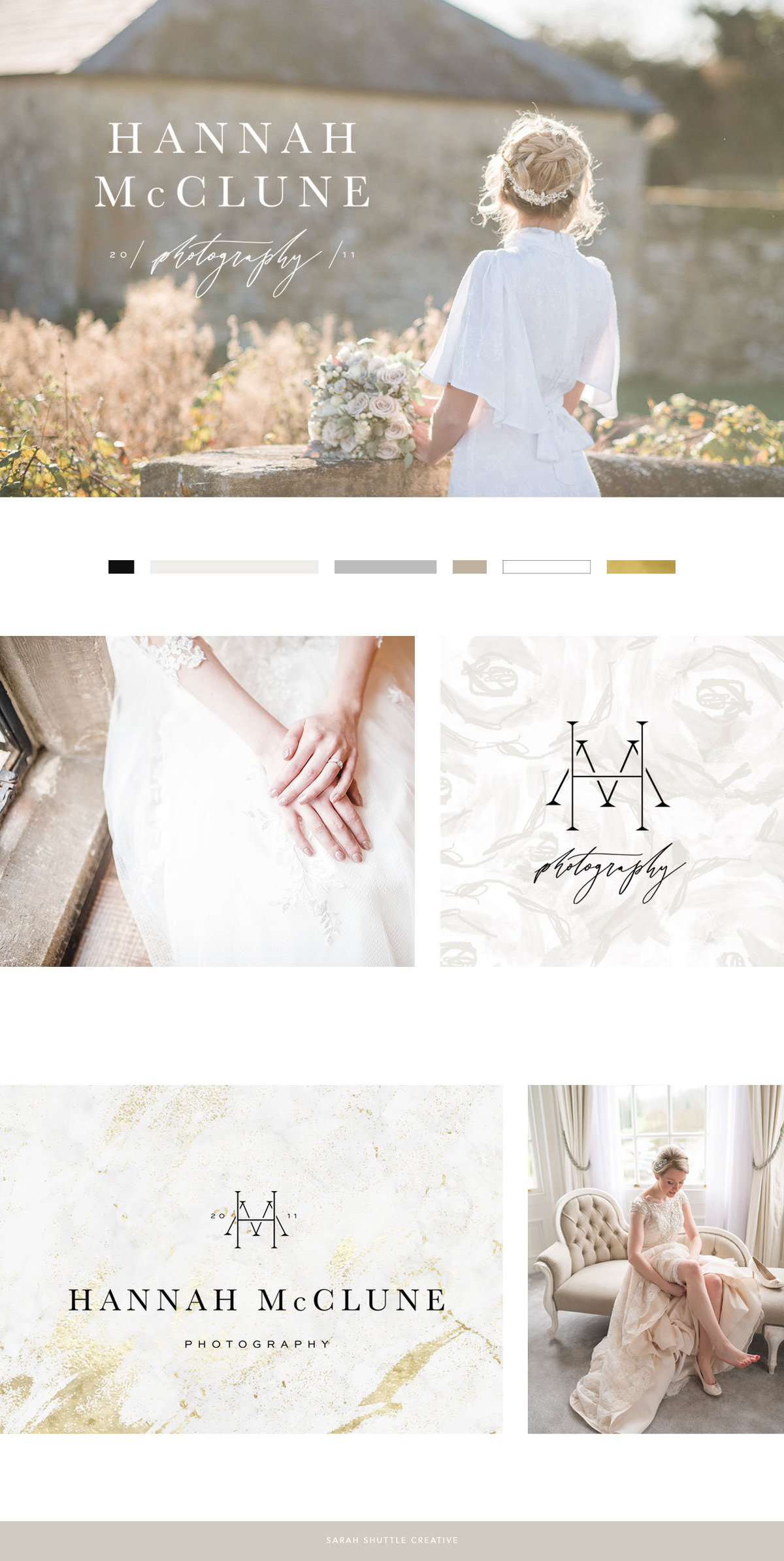 Branding for fine art wedding photographer with feminine logo design and neutral colour palette. Wedding photographer website, wedding business branding, feminine brand design