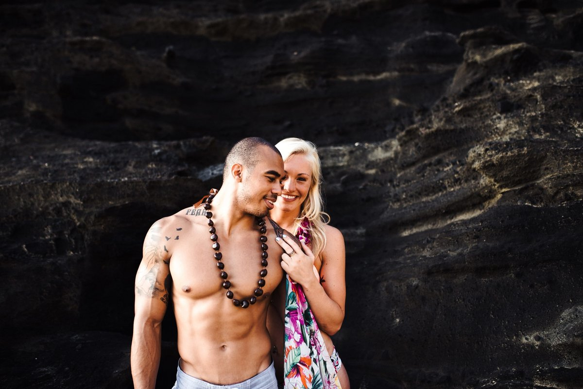 Eternity Beach Honolulu Hawaii Destination Engagement Session - 62