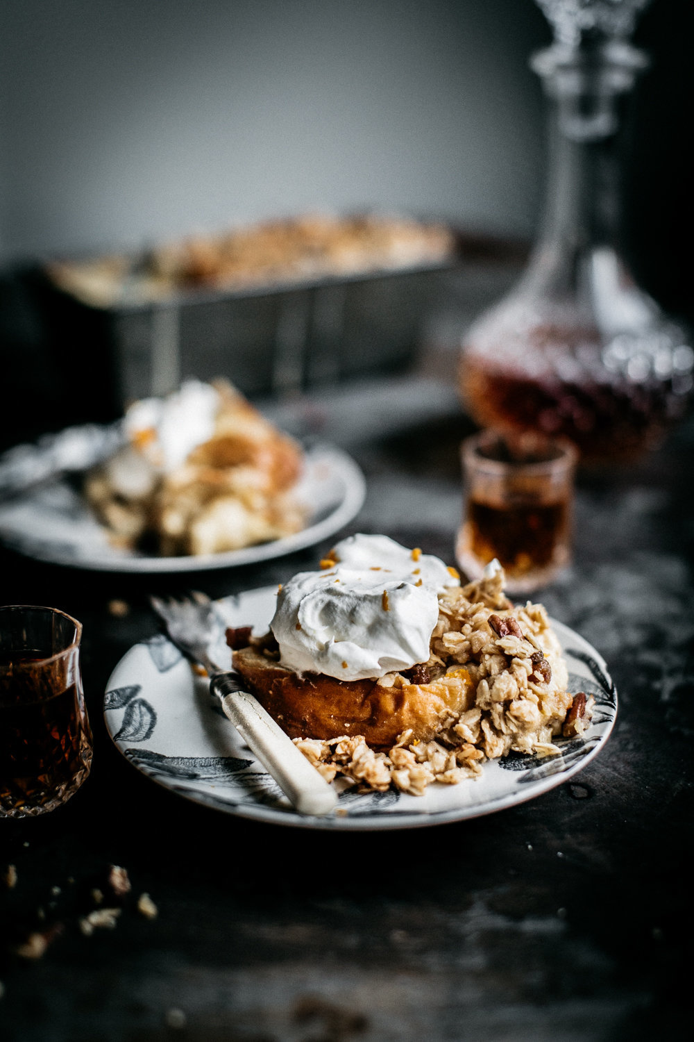 Pecan Crumble Brioche Pudding | Anisa Sabet | The Macadames-381
