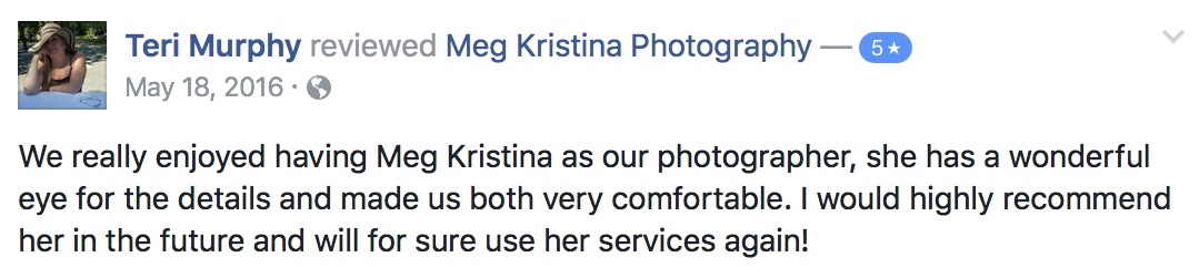 meg kristina 5 star review