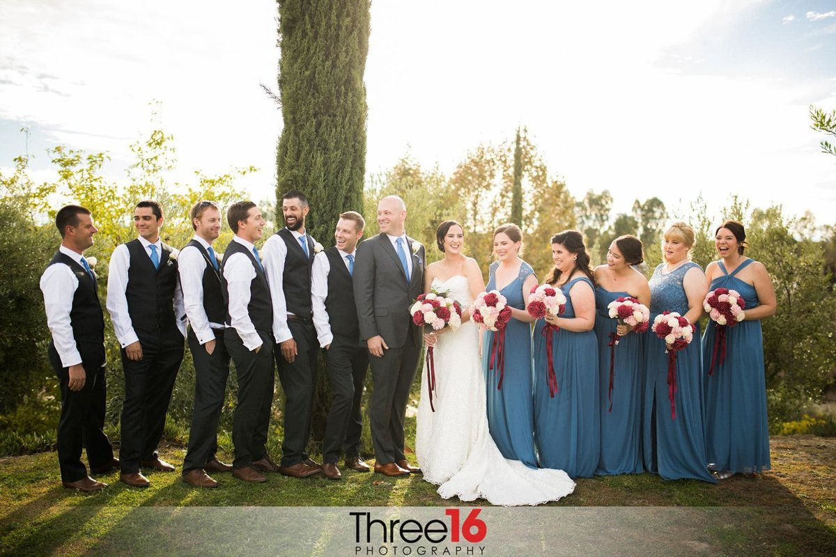 Wedding party at a Mount Palomar Winery Wedding Ceremony