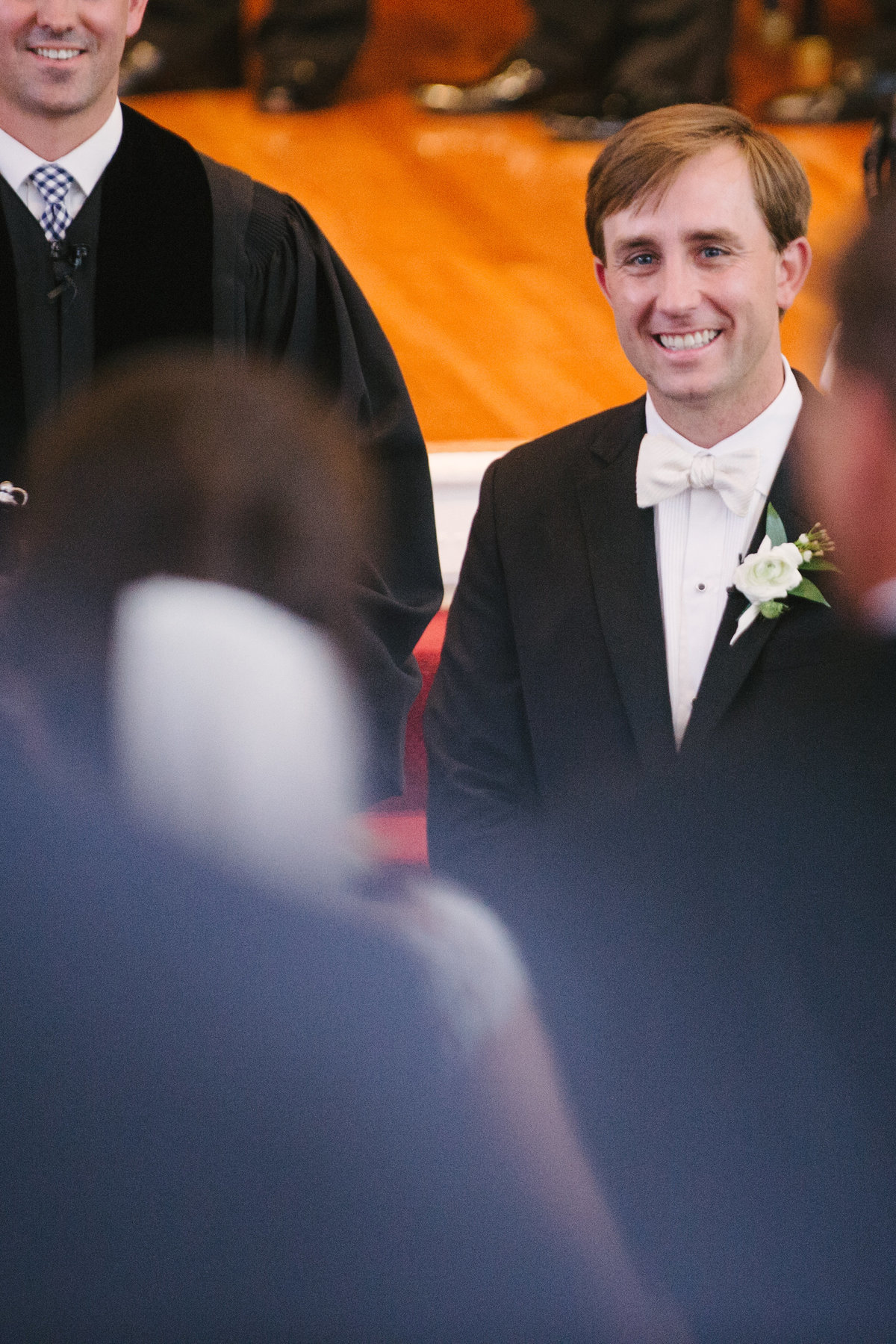 Grooms face Ceremony at UGA Chapel