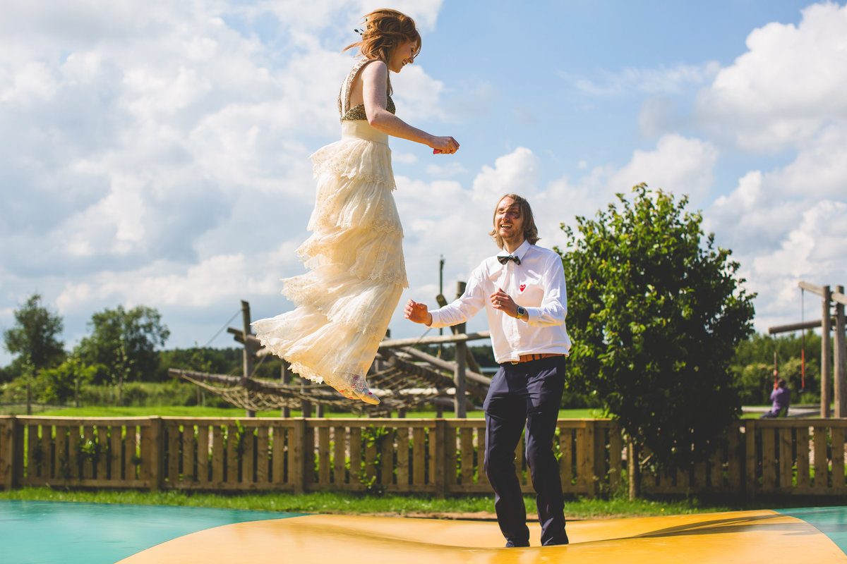 bride and groom bouncy castle pillow at york maze outdoor fun