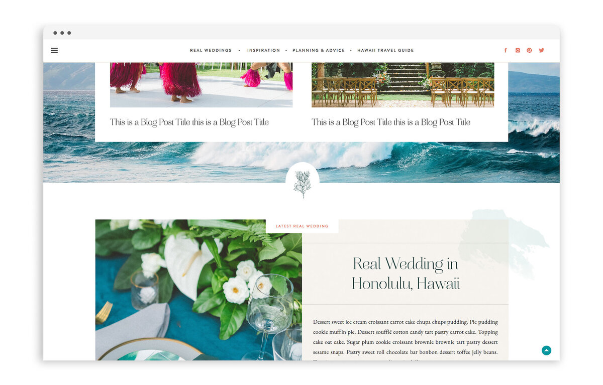 Hawaii Wedding Love - Custom Brand Logo and Showit Web Website Design by With Grace and Gold - 16