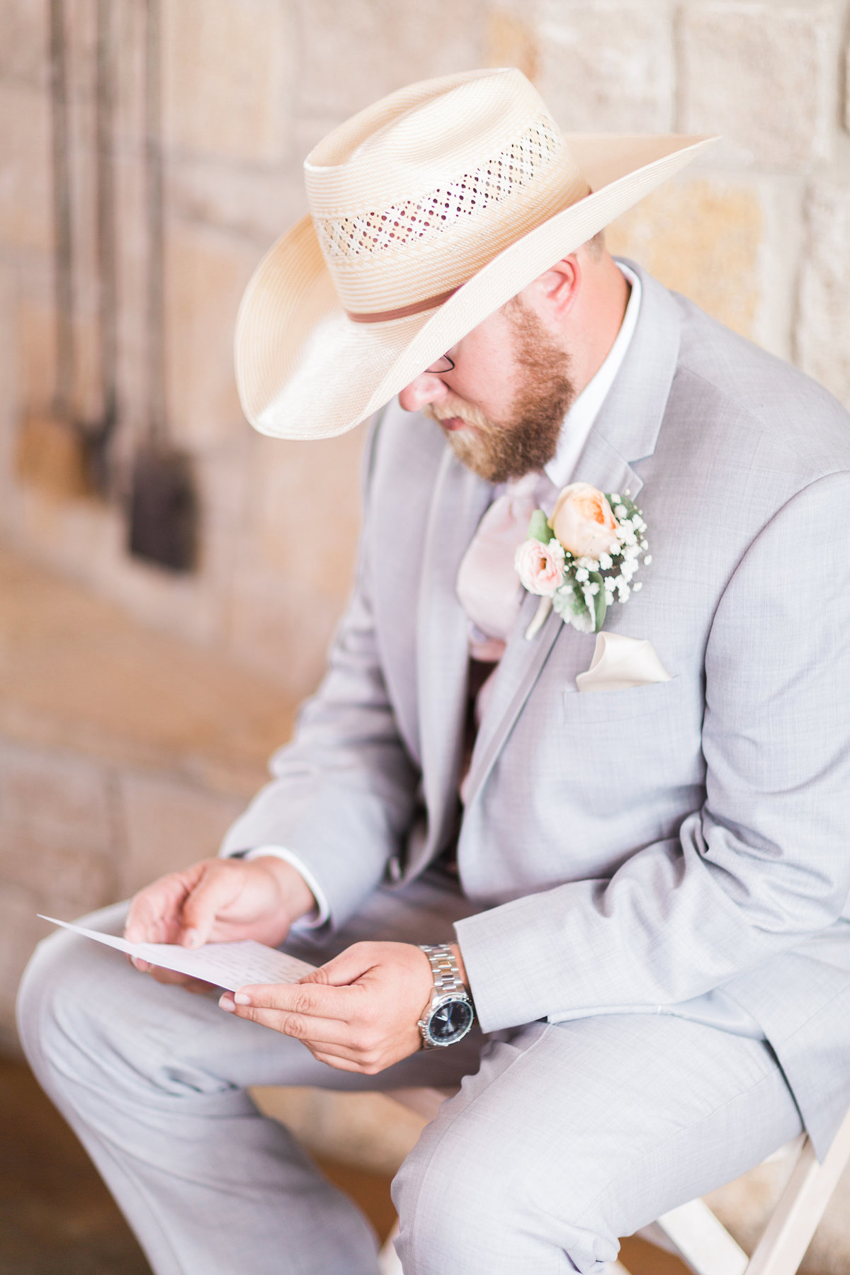 Kairos Celebration Barn Wedding Groom
