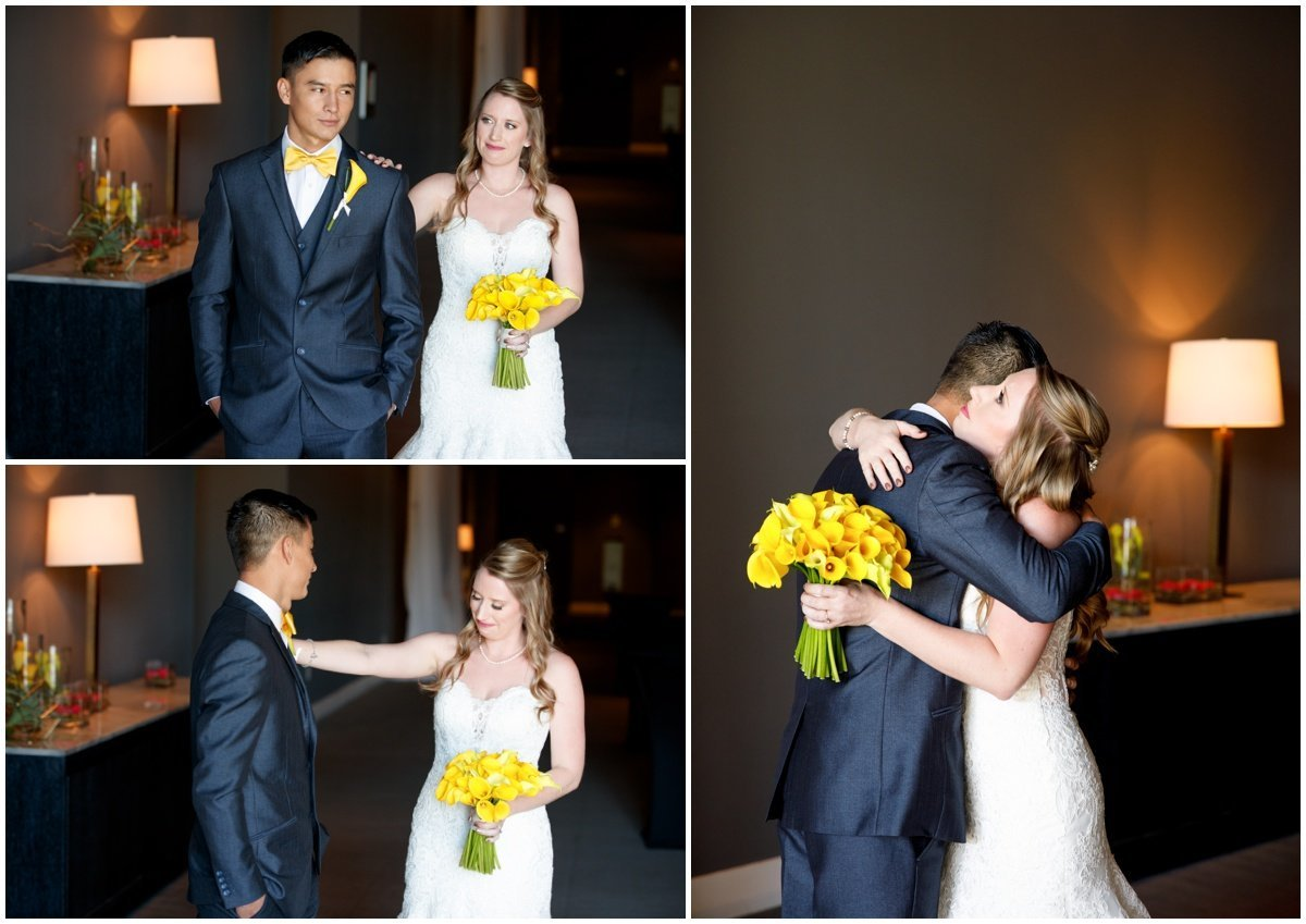 Austin wedding photographer w hotel wedding photographer bride groom hug