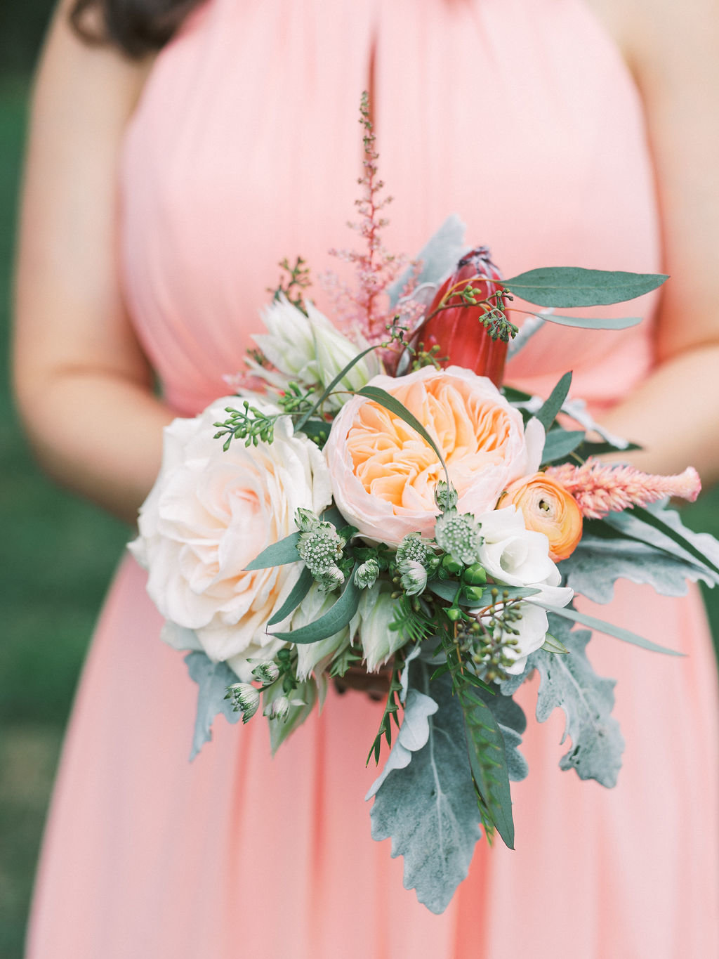 bouquet boho wedding greenville country club a styled fete florist