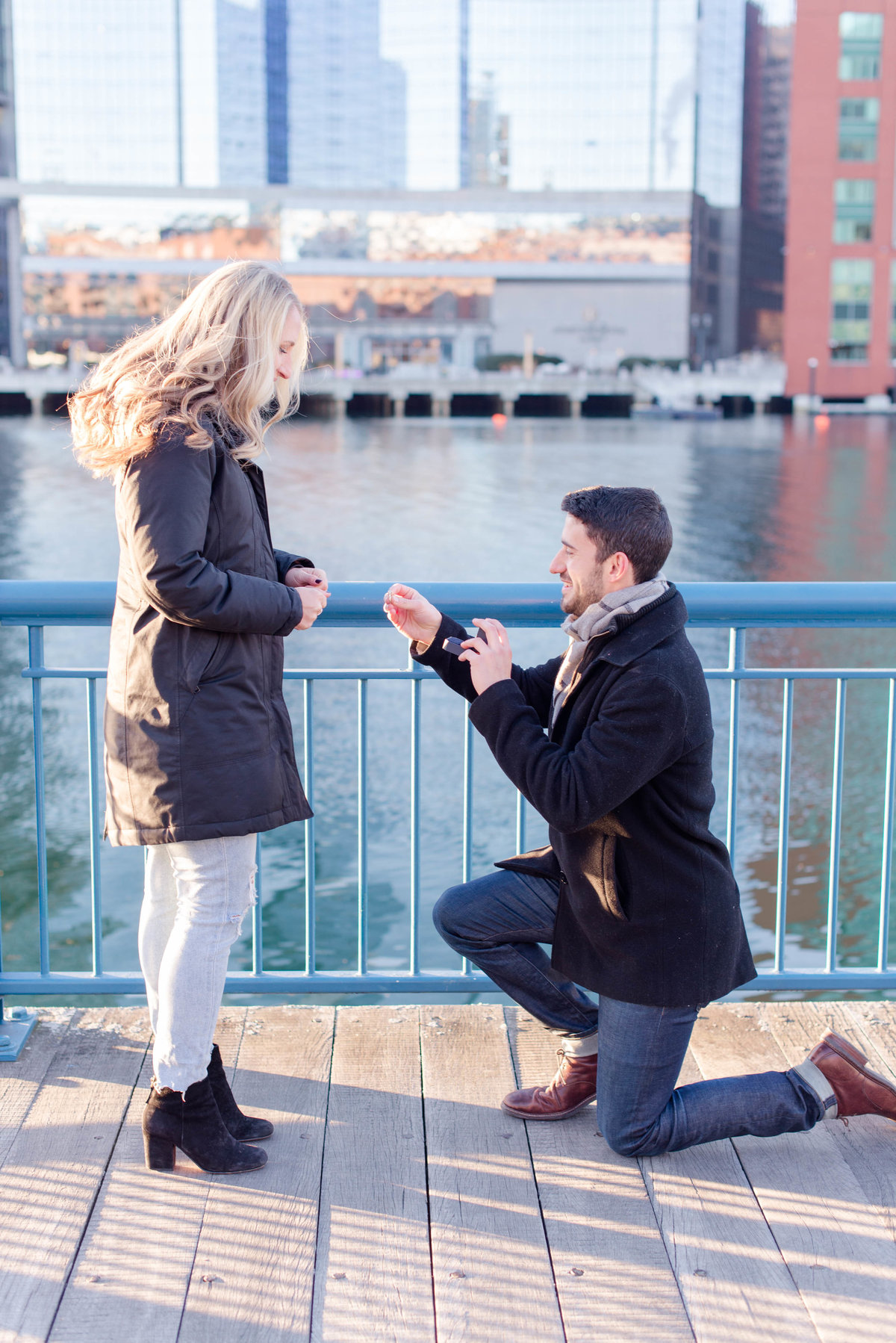 Seaport winter proposal photos by Linda Barry Photography.