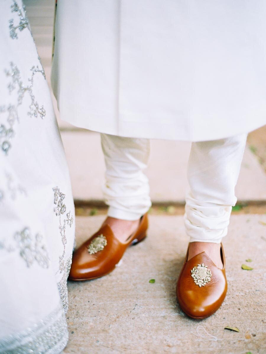 Sabyasachi Modern White Mukut Hindu Wedding Ceremony Bengali Groom Bonnie Sen Photography