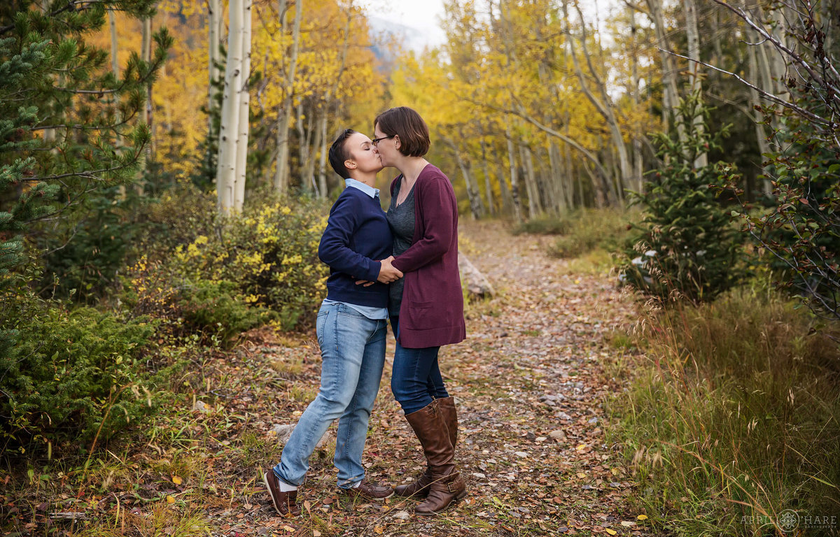 Guanella Pass Fall Engagement Photography in the Mountains near Georgetown