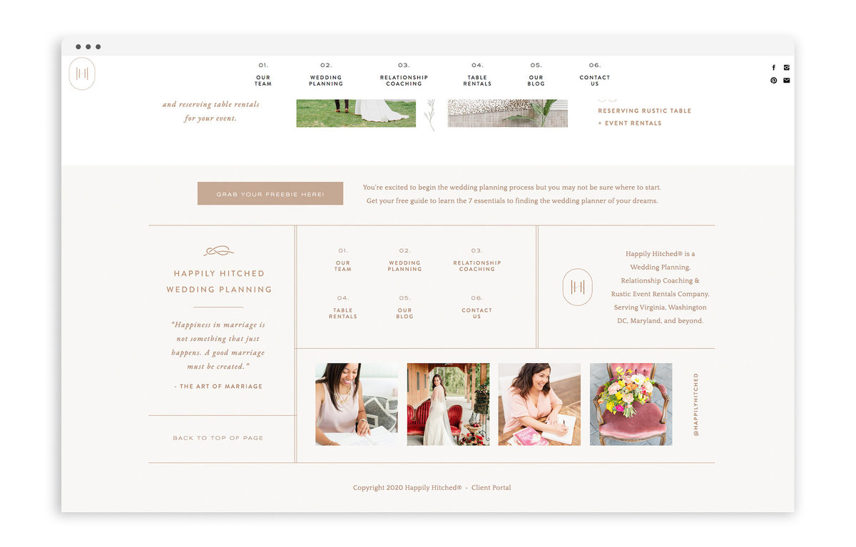 Happily Hitched by With Grace and Gold - Best Showit Design Designs Designer Designers Theme Themes Template Templates Web Website Websites for Photographers Creatives Small Business Owners - 2