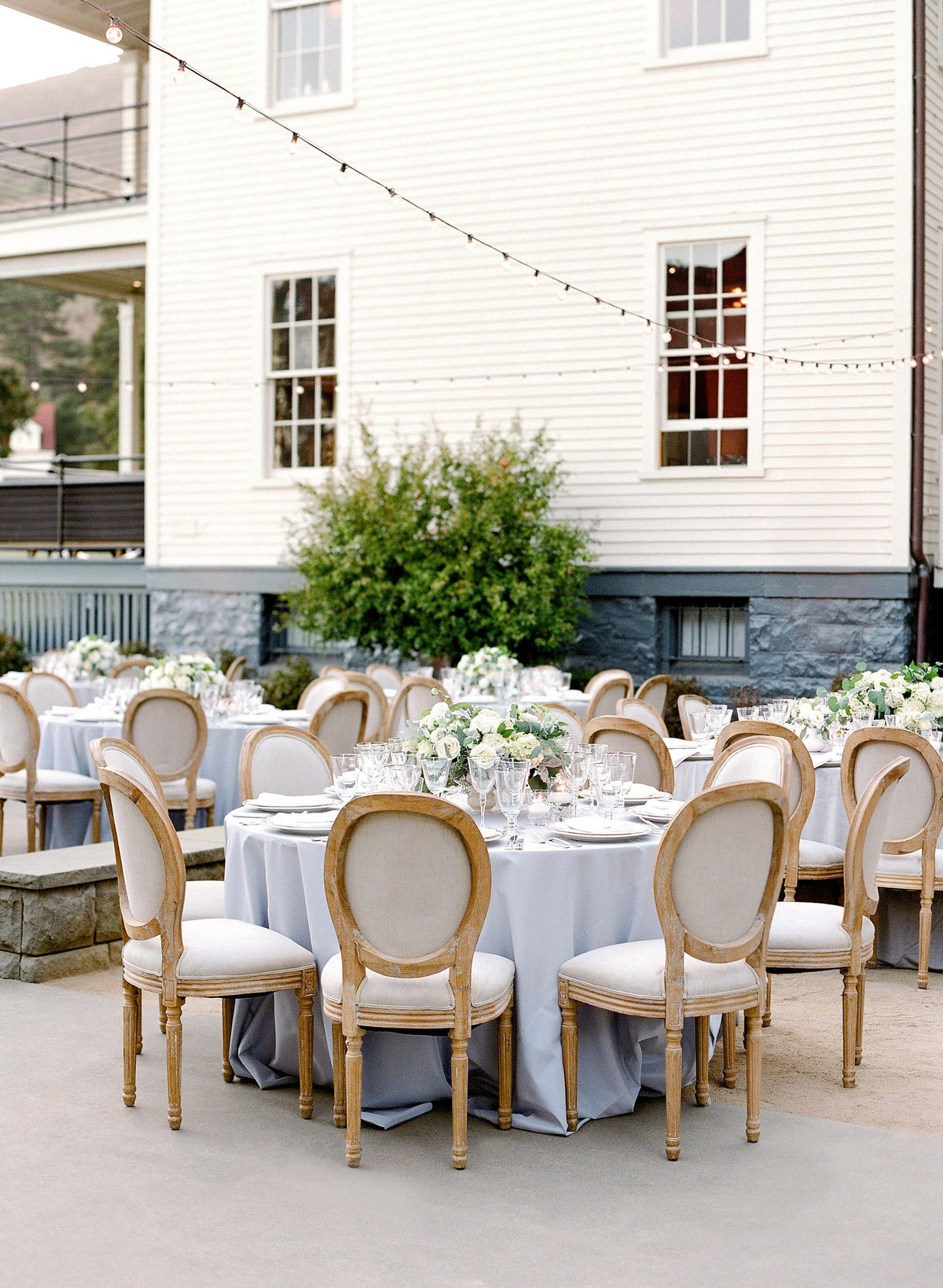 Tables and chairs for Cavallo Point wedding by Jenny Schneider Events.