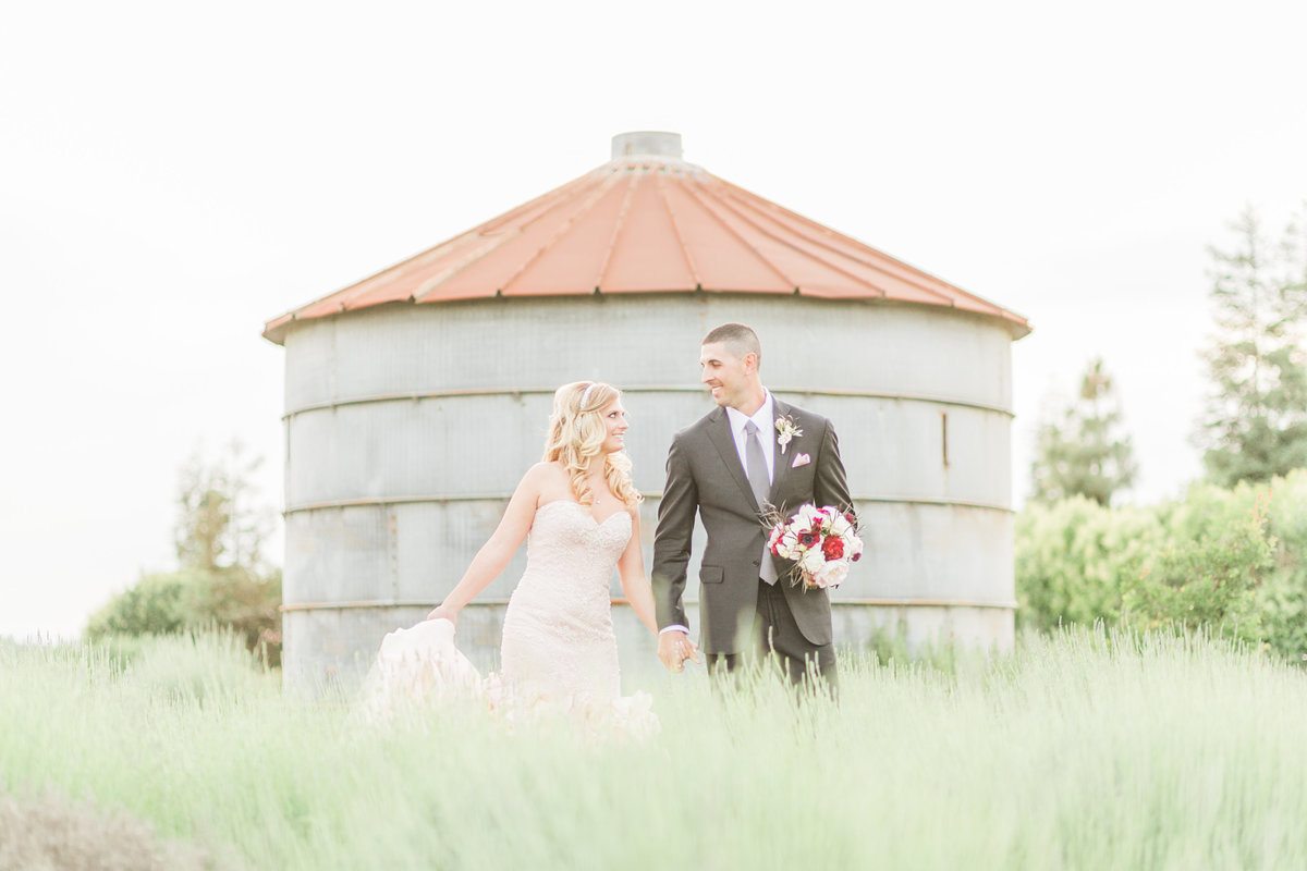 Evonne and Darren Lavender Farm Wedding
