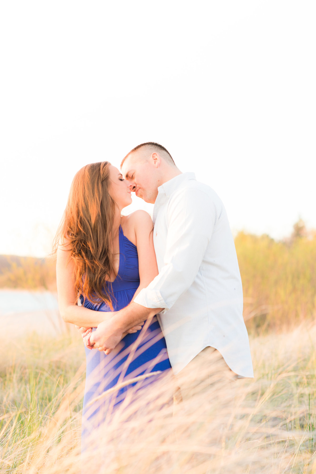 engagement portraits in summertime in northern  michigan