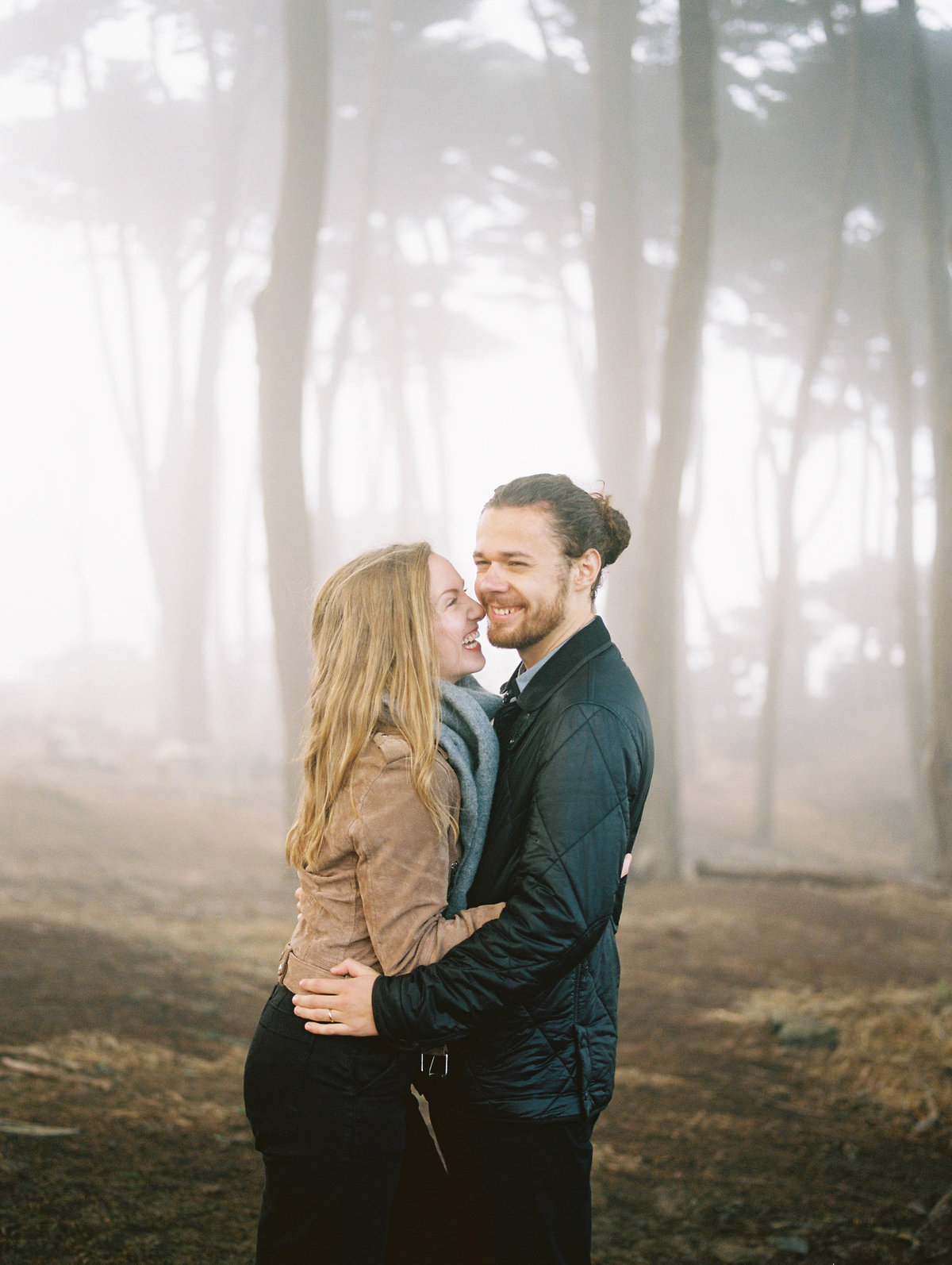 Foggy portrait session at Lands End in San Francisco, California