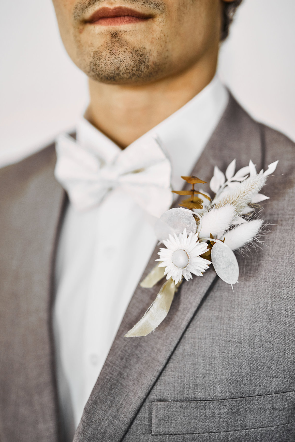 dried floral boutonniere