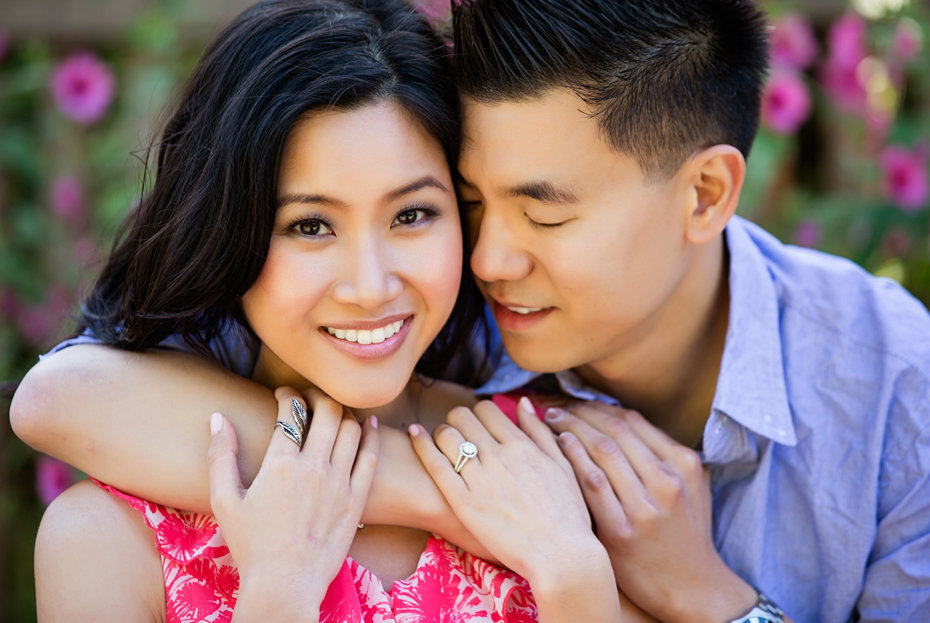 Asian Couple Engagement Shoot
