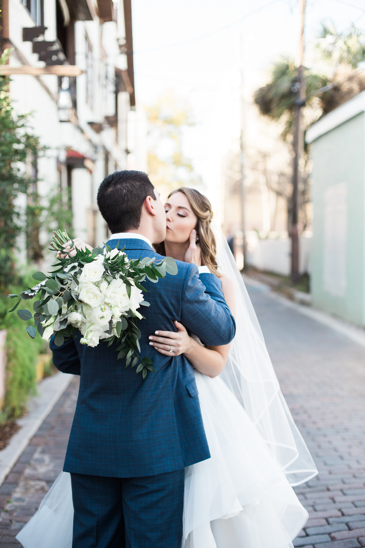 Bride and Groom Kissing Photo by St Augustine Wedding Photographer