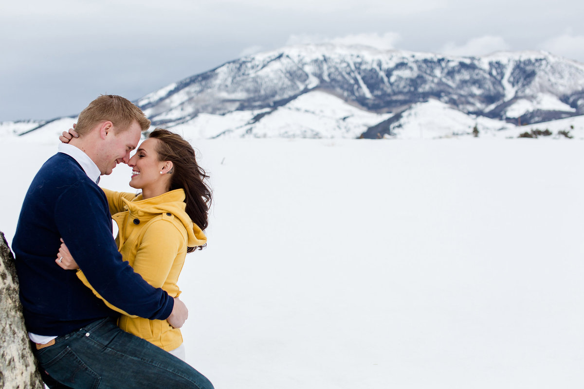 Lake Dillon engagement photos of couple